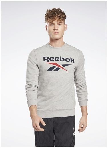 Reebok Reebok Gj0551 Rı Ft Bl Crew Sweatshirt Gri